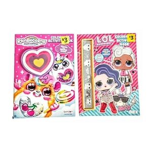Set of 2 NEW Kids Coloring/ Activity Books